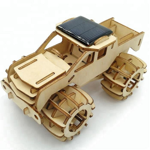 Wincent Solar Energy Series Solar Monster Truck 3D Wood Puzzle Model
