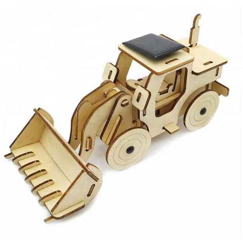 Wincent Solar Energy Series Solar Bulldozer 3D Wood Puzzle Model