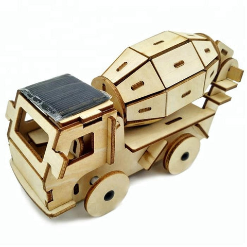 Wincent Solar Energy Series Solar Cement Mixer Truck 3D Wood Puzzle Model