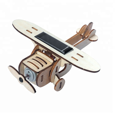 Wincent Solar Energy Series Solar Plane D 3D Wood Puzzle Model