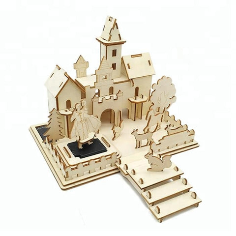 Wincent Solar Energy Series Solar Castle 3D Wood Puzzle Model