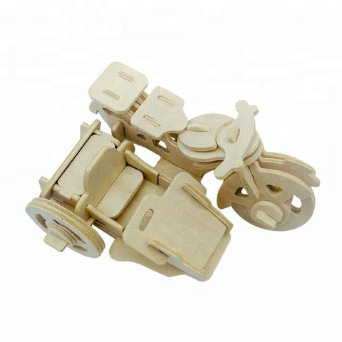 Wincent Transportation Series Motor Tricycle 3D Wood Puzzle Model