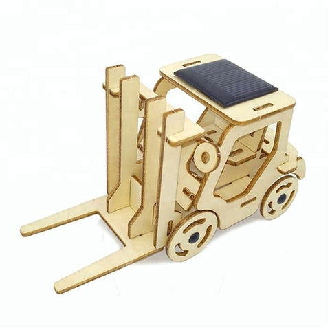 Wincent Solar Energy Series Solar Forklift 3D Wood Puzzle Model