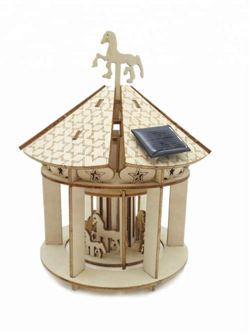 Wincent Solar Energy Series Solar Carousel 3D Wood Puzzle Model