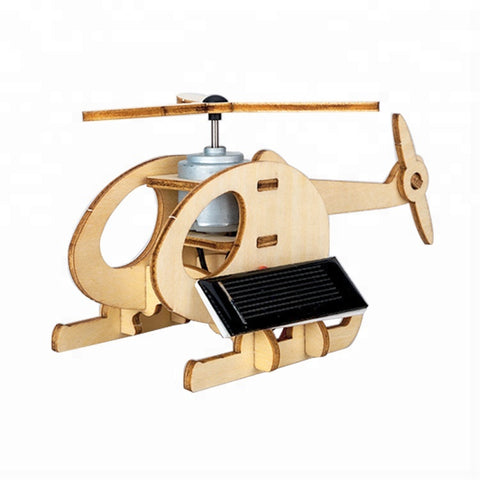 Wincent Solar Energy Series Solar Plane B 3D Wood Puzzle Model