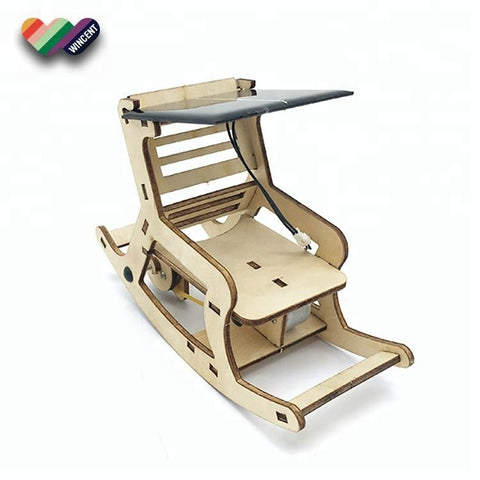 Wincent Solar Energy Series Solar Rocking Chair 3D Wood Puzzle Model
