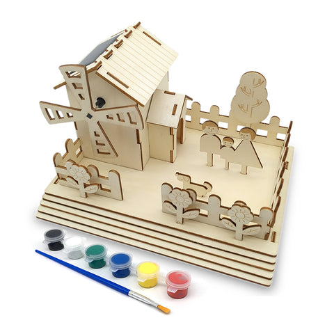 Wincent Solar Energy Series Solar Farm 3D Wood Puzzle Model