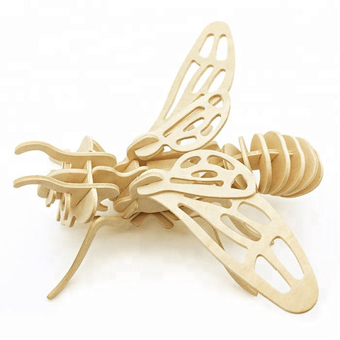 Wincent Insect Series Honeybee 3D Wood Puzzle Model