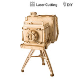 Modern 3D Wooden Puzzle-Non Animals TG403 Vintage Camera