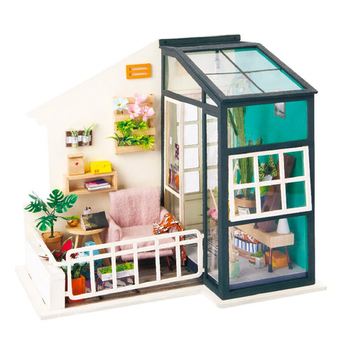 Robotime DIY Mini Dollhouse Building Model Home Decoration toys Balcony Daydreaming DGM05