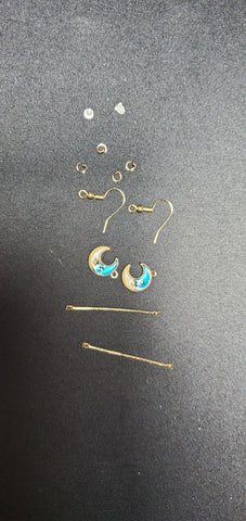 Blue Moon Pendants Earrings B1-5