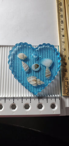 Heart coaster resin