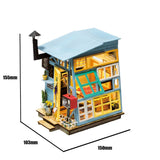 Robotime DIY Mini Dollhouse Building Model Home Decoration toys Wooden Hut DGM03