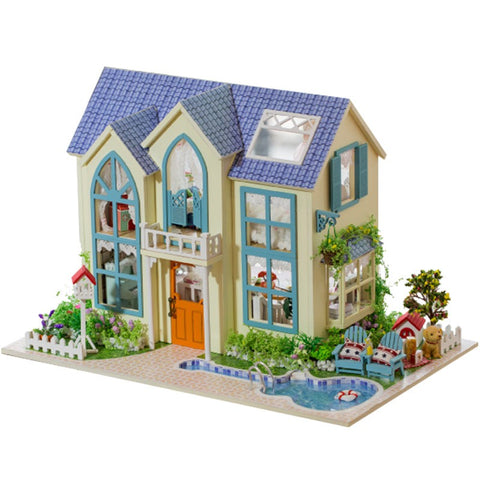 Hoomeda 13838 Victorian Cottage DIY Miniature Doll House