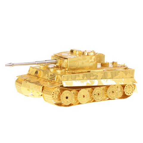 Wincent Tiger I Tank Golden 3D Metal Puzzle Model MWCT082