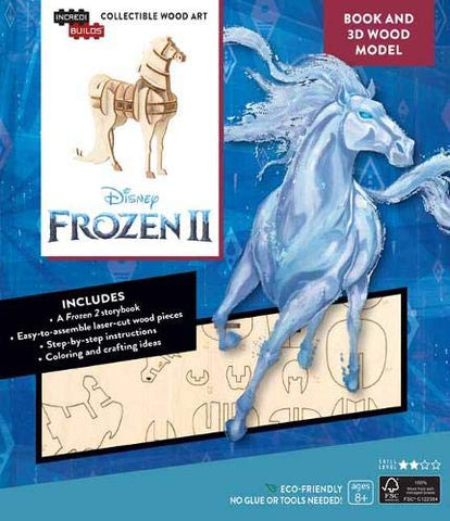 IncrediBuilds: Disney Frozen 2: Water Nokk Horse Book and 3D Wood Model