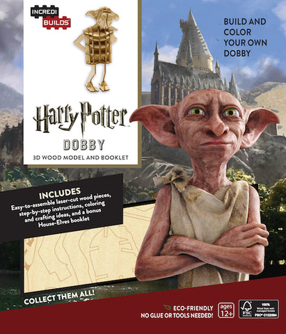 IncrediBuilds Harry Potter Dobby 3D Wood Model and Booklet