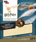 IncrediBuilds Harry Potter Golden Snitch 3D Wood Model and Booklet