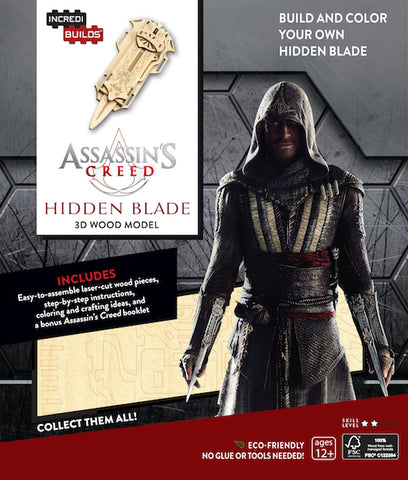 IncrediBuilds Assassin's Creed Hidden Blade 3D Wood Model