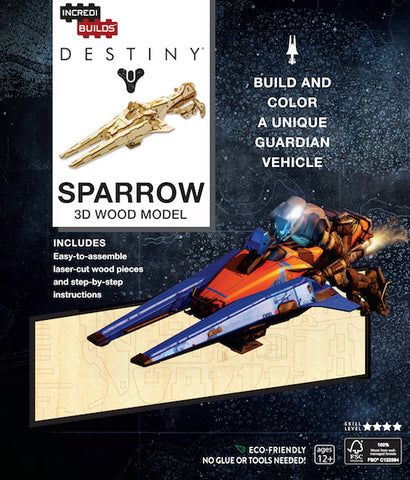 IncrediBuilds Destiny Sparrow 3D Wood Model