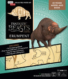 IncrediBuilds Fantastic Beast and Where to Find Them Erumpent 3D Wood Model and Book
