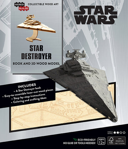 IncrediBuilds Star Wars Star Destroyer Book and 3D Wood Model