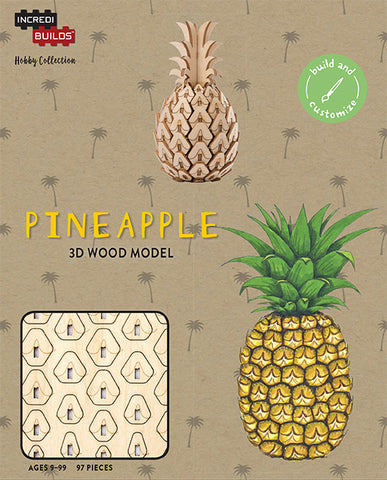 IncrediBuilds Hobby Collection Pineapple 3D Wood Model