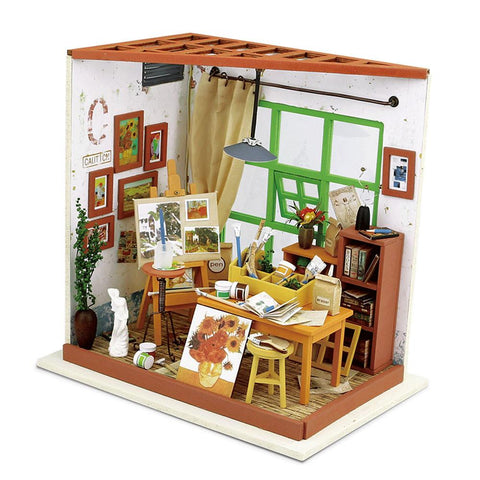 DIY Dollhouse Kit-Ada's Studio with LED light DG103