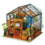 DIY Dollhouse Kit-Cathy's Flower House with LED light DG104