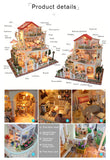 Hoomeda 13845 Be Enduring As The Universe DIY Dollhouse With Music Light Miniature Model