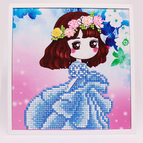5D Fashion DIY Diamond Painting Cute Girl T-082