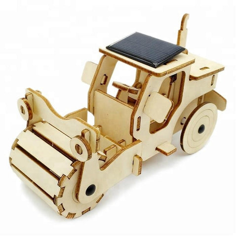 Wincent Solar Energy Series Solar Roadroller 3D Wood Puzzle Model