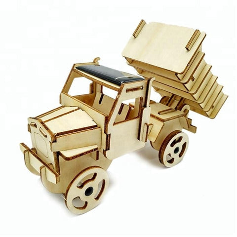 Wincent Solar Energy Series Solar Truck 3D Wood Puzzle Model