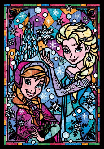 5D DIY Diamond Painting STAR006(L) Elsa & Sister Diamond embroidery Cross stitch Cartoon
