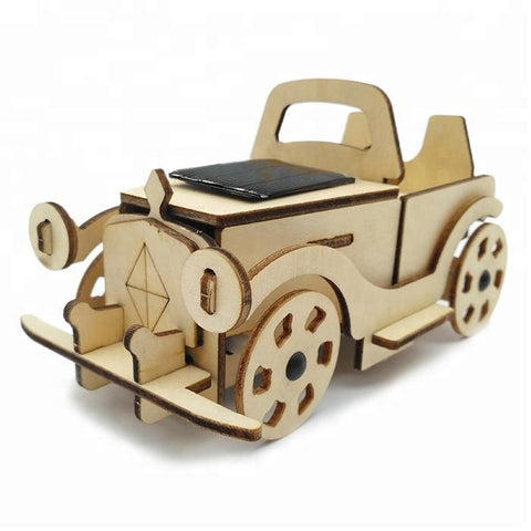 Wincent Solar Energy Series Solar Convertible 3D Wood Puzzle Model