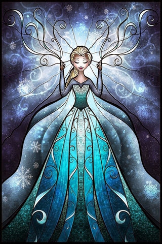 5D DIY Diamond Painting STAR005(L)  Elsa Diamond embroidery Cross stitch Cartoon