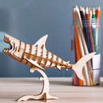 Modern 3D Wooden Puzzle-Sea animals TG274 Shark