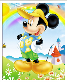 5D Fashion DIY Diamond Painting Mickey T-014
