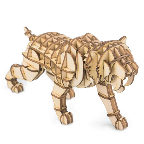 Modern 3D Wooden Puzzle-Wild Animals TG204 Saber Toothed Tiger