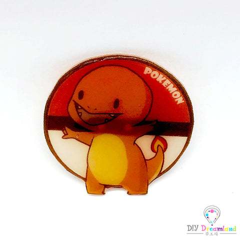 Charmander & Pokeball Pin