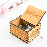 Home Classic Harry Potter Music Box Creative Hand-Cranked Wooden Music Box