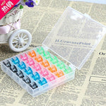 25Pcs Plastic Bobbins Colorful Grid Storage Case Box Spool Multifunction Sewing Tools & Accessory For Sewing Machine