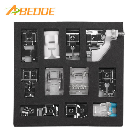 ABEDOE 11pcs Mini Multifunction Presser Foot Spare Parts Accessories Presser Foot Set For Sewing Machine Brother Singer
