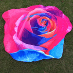 Irregular Rose Flower Hippie Tapestry Beach Picnic Throw Yoga Mat Towel Blanket