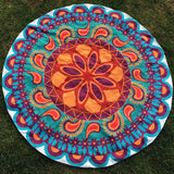 Round Printing Hippie Tapestry Beach Picnic Throw Yoga Mat Towel Blanket