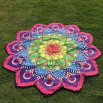 Lotus Hippie Tassel Tapestry Flowers Beach Throw Cushion Towel Yoga Mat Bohemian