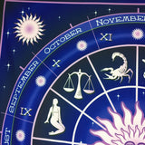 Constellation Square Decorative Tapestry Beach Throw Roundie Towel Yoga Mat