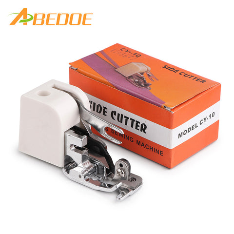 ABEDOE Side Cutter Overlock Sewing Machine Presser Foot Feet Sewing Machine Attachment For All Low Shank Singer Janome Brother