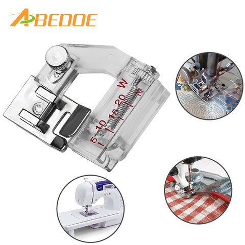ABEDOE Adjustable Sewing Presser Bias Tape Binding Foot Snap On For Brother Janome Sewing Machine Accessories Tools
