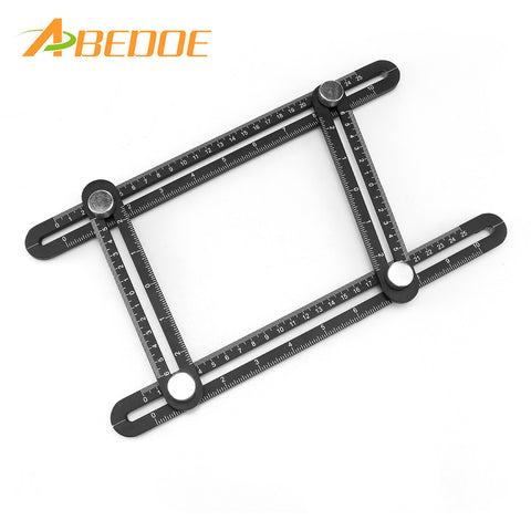 ABEDOE Metal Aluminum alloy Multi Angle Measuring Tool-Ultimate Angleizer Template Tool-Upgraded Multi Functional Ruler